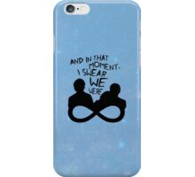 I Swear We Were Infinite iPhone Case/Skin