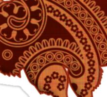 Camel Silhouette Paisley Sticker