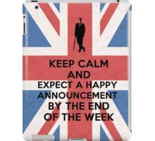 Happy announcement iPad Case/Skin