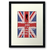 Happy announcement Framed Print