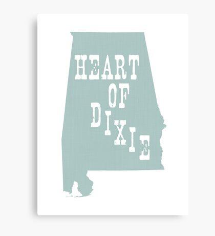 Alabama Slogan Motto Canvas Print