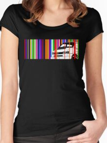 T4 Stripes Women's Fitted Scoop T-Shirt