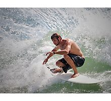 Surfin' Moffat Headland Photographic Print