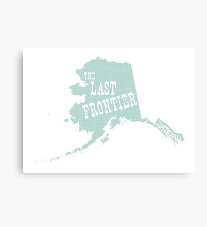 Alaska State Slogan Canvas Print