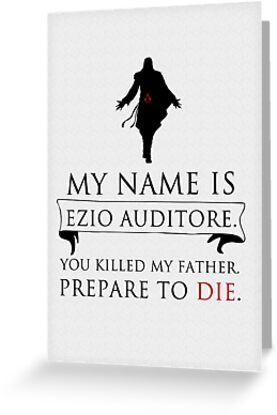 My Name Is Ezio Auditore by saniday