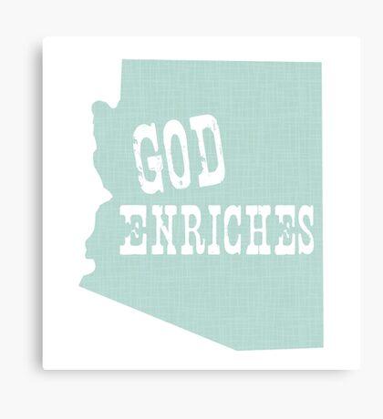 Arizona State Slogan Canvas Print