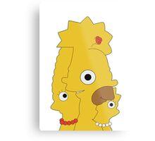 The Simpsons character mash Metal Print