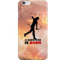 A Survivor is Born [black] iPhone Case/Skin