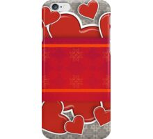Hearts on vintage background iPhone Case/Skin