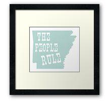 Arkansas State Motto Slogan Framed Print