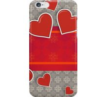 Hearts on vintage background 3 iPhone Case/Skin