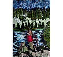 Mirror Lake  (She sits and waits.) Photographic Print