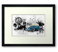 Splitty Grunge (B) Framed Print
