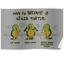 Become a Ninja Turtle Poster