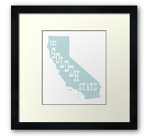 California State Motto Slogan Framed Print