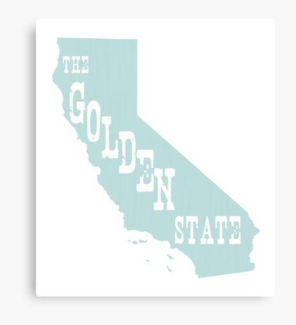California State Motto Slogan Canvas Print