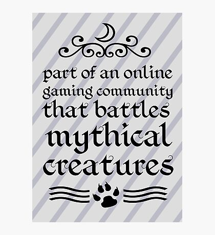 Mythical Creatures Photographic Print