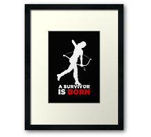 A Survivor is Born [white] Framed Print