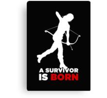 A Survivor is Born [white] Canvas Print