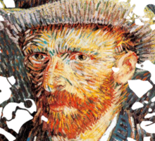 Van Gogh Splat Sticker