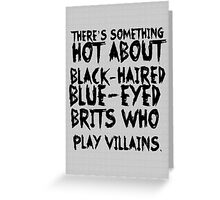 British Villains Greeting Card