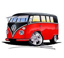 VW Splitty (11 Window) Camper (E) Photographic Print