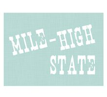 Colorado State Motto Slogan by surgedesigns