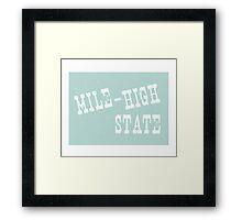 Colorado State Motto Slogan Framed Print