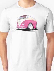 VW Splitty Camper Van Pink Unisex T-Shirt