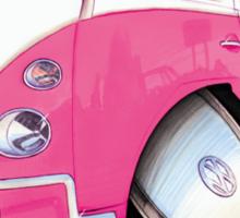 VW Splitty Camper Van Pink Sticker