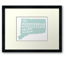 Connecticut State Motto Slogan Framed Print