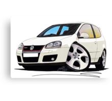 VW Golf GTi (Mk5) White Canvas Print