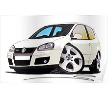 VW Golf GTi (Mk5) White Poster