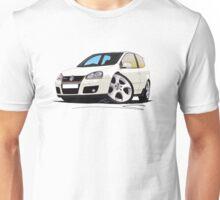 VW Golf GTi (Mk5) White Unisex T-Shirt