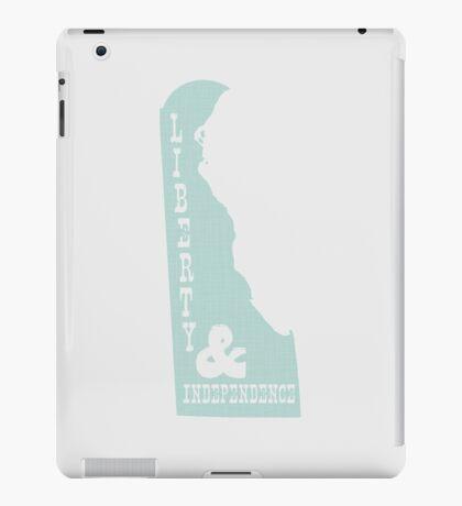 Delaware State Motto Slogan iPad Case/Skin