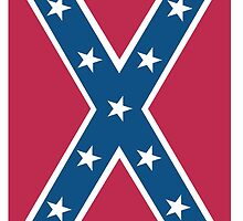 Confederate, Rebel, Dixie Flag, C.S.A, America, American, Americana, Pure & Simple, Portrait, upright by TOM HILL - Designer