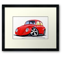 VW Beetle (Custom A) Framed Print