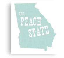 Georgia State Motto Slogan Canvas Print