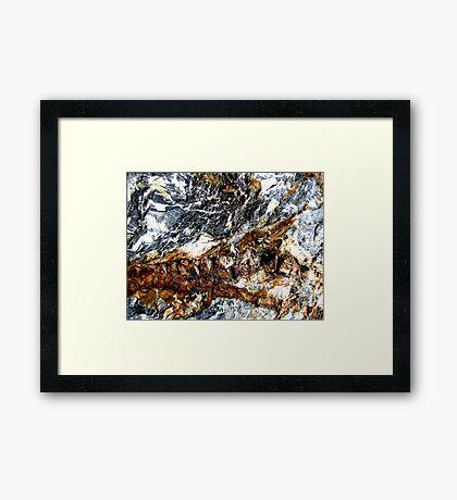 Mountain Snowstorm Framed Print