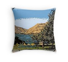 The Snake River in Cut-Out state Throw Pillow