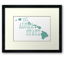 Hawaii State Motto Slogan Framed Print