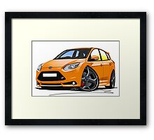 Ford Focus ST (Mk3) Orange Framed Print