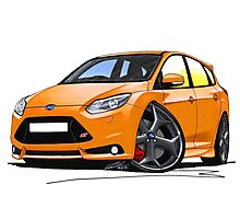 Ford Focus ST (Mk3) Orange Photographic Print