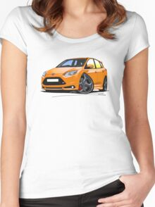 Ford Focus ST (Mk3) Orange Women's Fitted Scoop T-Shirt
