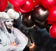 Parade Portraits—Under Her Balloons by Michel Godts