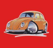 VW Beetle Orange One Piece - Short Sleeve