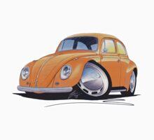 VW Beetle Orange by Richard Yeomans