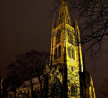 St Wulframs at Night by Trevor Patterson