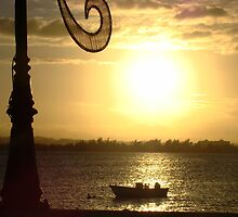 Old San Juan sunset by majeanette
