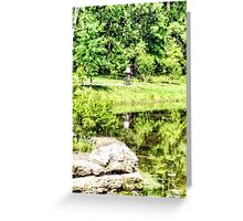 Bicycling by the Lake Greeting Card
